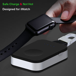 External Battery Pack QI Wireless Charger for Apple Watch iWatch 1 2 3 4 Wireless Charger Power Bank 950mah Portable Outdoor - mobilecare17