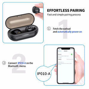 Anomoibuds Capsule TWS Wireless Earbuds V5.0 Bluetooth Earphone Headset Deep Bass Sport Earphone - mobilecare17