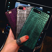 3D Crocodile Phone Case For iPhone 8 X S XS 7Plus Cool Leather Pattern Case - mobilecare17