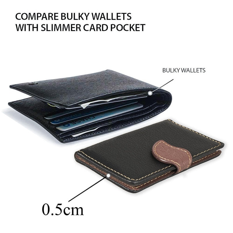 Creative PU leather Phone Wallet Case Women Men Credit Card Holder Pocket Stick 3M Adhesive Fashion Mobile Phone Card Holder - mobilecare17