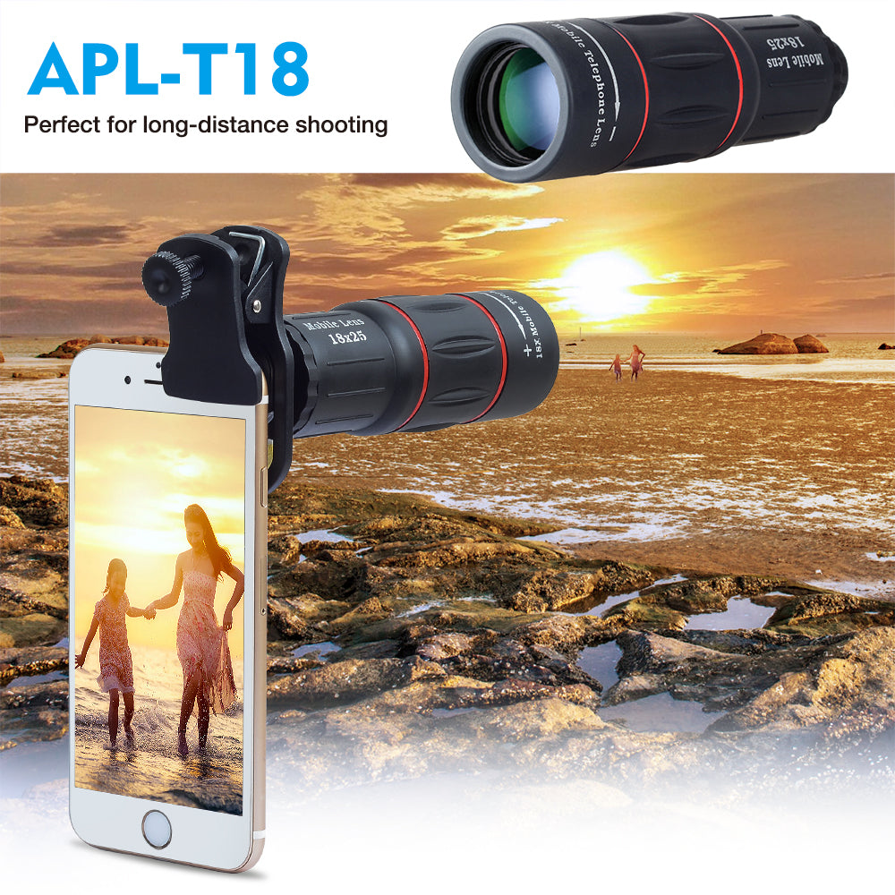 Mobile Phone Lens for iPhone Samsung Smartphones Universal Clip Telefon Camera Lens with Tripod - mobilecare17