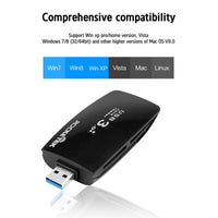 All In One compact flash card readers USB 3.0 for CF SD mmc micro sd,ms to card reader memory stick adapters