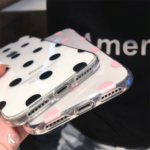 Cute Polka Dots clear TPU phone Cases For iphone XS Max X XR XS soft TPU Case for iphone 6 6s 7 8 plus phone back cover - mobilecare17