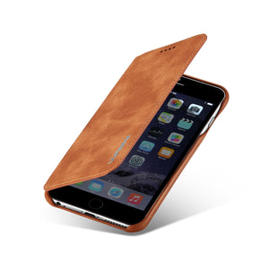 Magnetic Attraction Flip Cover Phone Case For IPhone 6 6s Plus Business Holster Retro Leather Case - mobilecare17