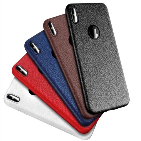 Leather Skin Soft TPU Silicone Ultra Thin Phone Cases For iPhone 6 6s 7 8 Plus 10 X - mobilecare17