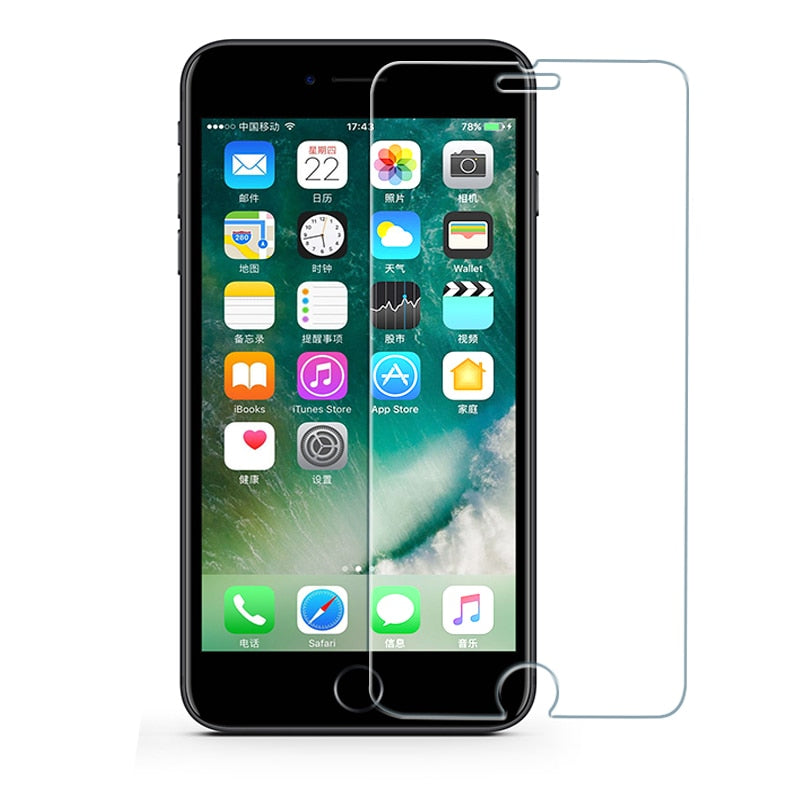 Protective tempered glass for iphone 6 7 5 s se 6 6s 8 plus XS max XR glass iphone 7 8 x screen protector glass on iphone 7 6S 8 - mobilecare17
