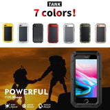 Heavy Duty Protection Armor Metal Aluminum Case for iPhone 6 6S 7 8 Plus X 4 4S 5S SE 5C Shockproof Dustproof Cover