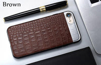 XO NEW Fashion PU Leather Crocodile Pattern Phone Back Case Covers for iPhone 7 Plus 6s plus  X 8 plus