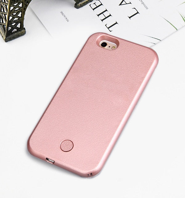 Luxury Luminous Phone Case For iPhone 6 6s 7 8 Plus X Perfect Selfie Light Up Glowing Case Cover - mobilecare17