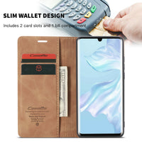 Leather Wallet Case For Huawei P30 Pro Magnetic Retro Card Stand Flip Cover - mobilecare17