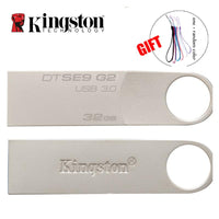 Kingston USB Flash Drive Pendrive Stick 8GB 16GB 32GB 64GB 128GB 3.0 Pen Drive Mental Ring Memory Flash - mobilecare17