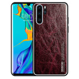 For HUAWEI P30 Case Genuine Leather Case Soft TPU Shockproof