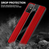 Luxury Leather Silicone Edge Shockproof Back Case Cover For Samsung Galaxy S20
