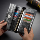 "Universal Crocodile Leather Wallet Case For Samsung S20 iPhone 11 XR Huawei P40 6.5"" inches"