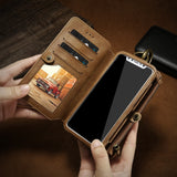 Luxury Retro Leather Wallet Phone Case For Samsung S10 S20 Ultra