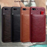 PU Leather Wallet Phone Case For iPhone X 6 6s 7 8 Plus Case Luxury Pull Type Card Slots Back Cover For iPhone X 10 8 Plus - mobilecare17