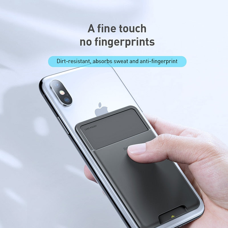 Luxury 3M Sticker Silicone Phone Pouch Case Wallet Card Slots For iPhone 11Pro X XS Max XR Case