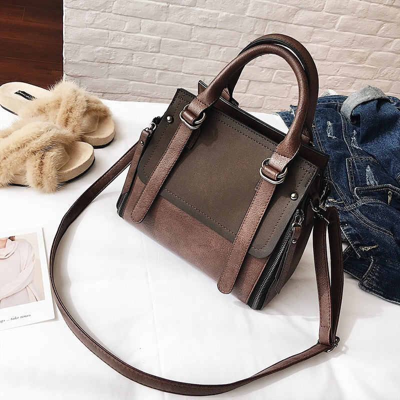 Vintage Handbags Female Brand Leather Handbag High Quality Small Bags Lady Shoulder Bags - mobilecare17