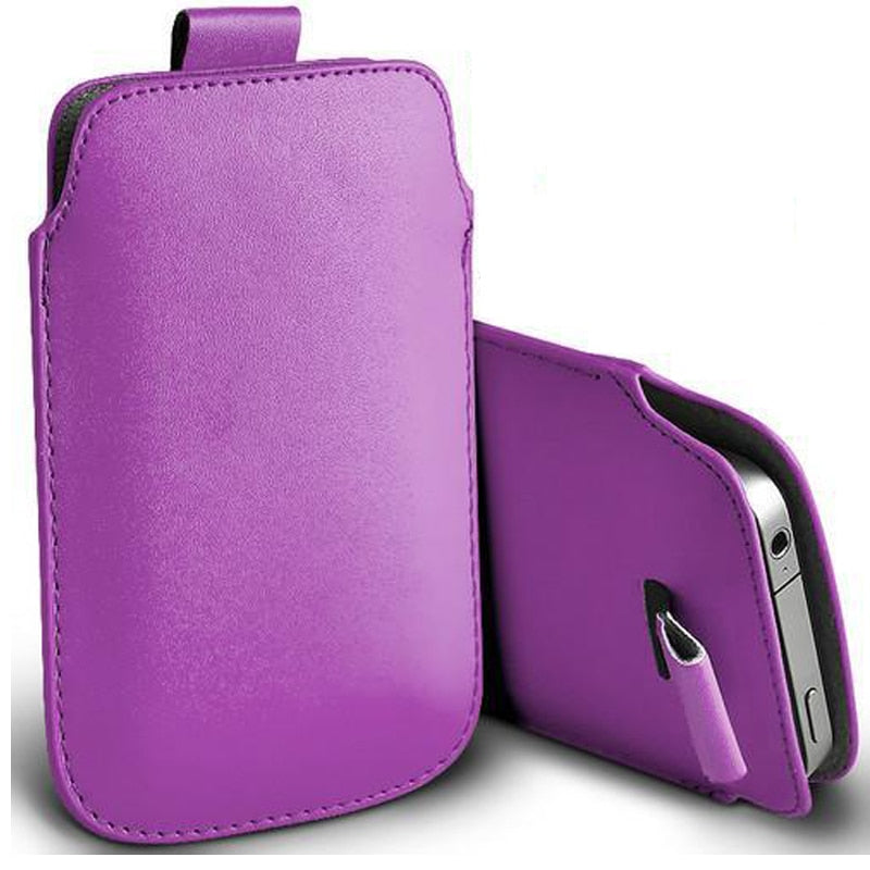 Leather Pouch Coque For iPhone 5 5S SE 5C Case Pocket Rope Holster Pull Tab Pouch Cover For iPhone SE 5 S E 5C Phone Bag Case - mobilecare17