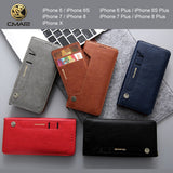 Luxury Leather Flip Case For iPhone 6 6s 7 8 Plus XS Max XR 11 Pro Max Wallet Cover iPhone 6 S 7plus 8plus Case Card Slot Coque