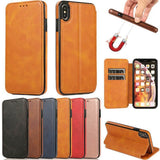 Magnetic Wallet Flip PU Leather Card Slot Case Cover For Iphone 11 XS Max XR XS