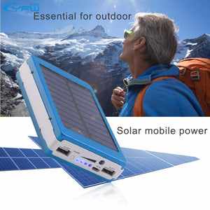 Solar Charger Power Bank ECO Friendly External Battery Pack 12000mAh LED Lamps Powerbank for any universal Mobile Phone or electronic device complete with LED LAMP!!