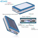 Solar Charger Power Bank ECO Friendly External Battery Pack 12000mAh LED Lamps Powerbank for any universal Mobile Phone or electronic device complete with LED LAMP!! - mobilecare17