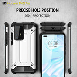 Rugged Armor Phone Case For Huawei P40 Pro P30 Pro P30 Lite P20 Lite P Smart Plus 2019 P Smart Z Y9 Prime 2019 Y7 Pro 2019 Y6 Pro 2019 Y5 2019 Mate 30 Pro Hard PC Shockproof Back Cover