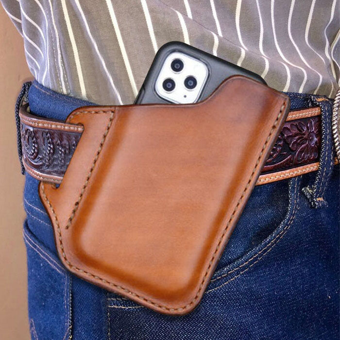 Men's Genuine Leather Case Wallet Belt Bag Waist Bag
