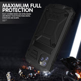 iPhone11Pro Max New Bracket Three Anti-mobile Phone Shell XS Max Waterproof And Drop-proof Shockproof With Bracket Function XR-X Protective Shell