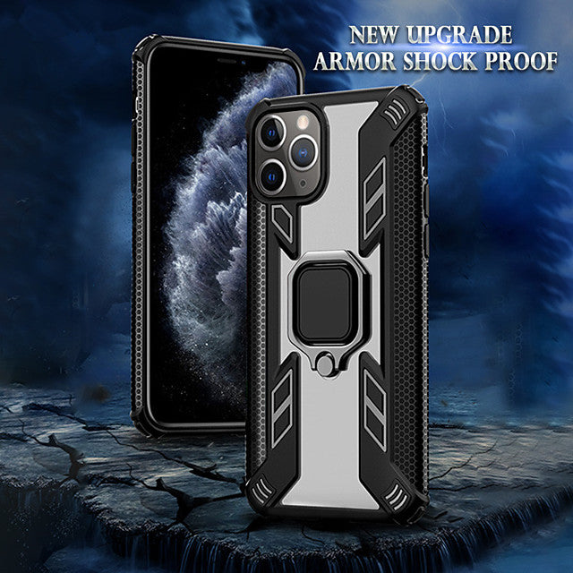 Magnetic Holder Ring Case For Apple iPhone 11 Pro Max XR XS Max X 8 Plus 7 Plus 6 Plus Case Luxury Shockproof Armor Clear PC Back Cover