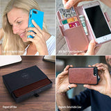 EXCLUSIVE PREMIUM  2-in-1 Wallet-Case for iPhone XR, Magnetic Detachable Shock-Proof TPU Slim-Case, RFID Protection, 2-Way Stand, Luxury Vegan Leather