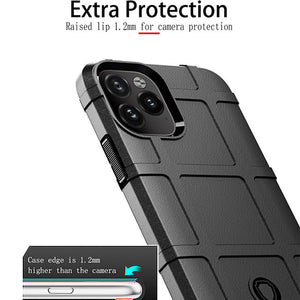Rugged Fiber Shield Case For iphone 11 Pro Max XR XS Max X 8 Plus 7 Plus 6 Plus Luxury Rubber Soft TPU Shockproof Armor Back Cover