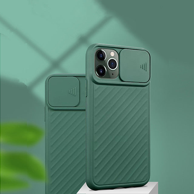 Case For Apple iPhone 11 / iPhone 11 Pro / iPhone 11 Pro Max Dustproof / with Windows / Frosted Back Cover Tile / Lines / Waves / Solid Colored TPU