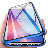 Magnetic Metal Double Side Tempered Glass Phone Case for Samsung Galaxy S20 S20 Plus S20 Ultra S10 S10 Plus S10E A51 A71