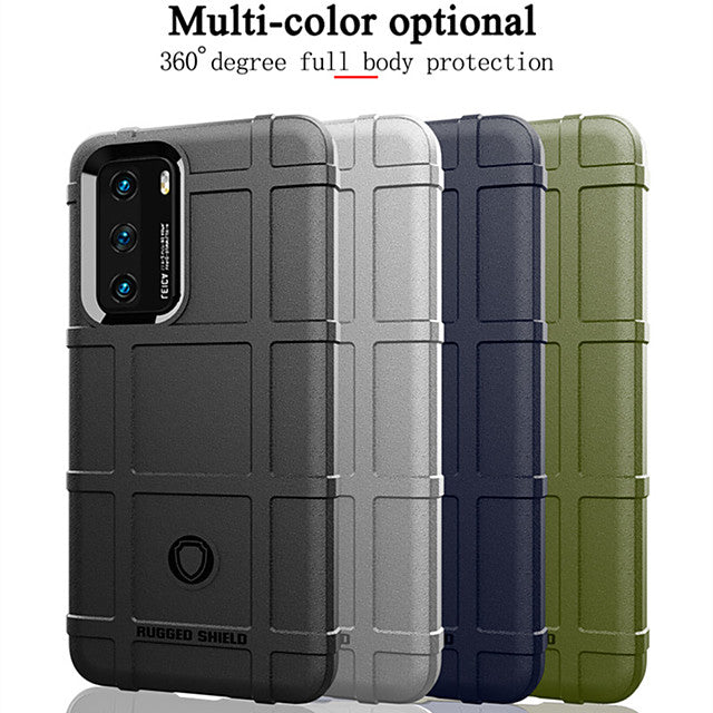 Rugged Fiber Shield Case For Huawei P40 Pro P40 Lite P Smart 2019 Y6 2019 P30 Lite P30 P20 Pro Mate 30 Pro Mate 20 Pro Honor 20 Honor 9X  Y5 Y9 Y7 2019 P Smart Z Rubber TPU Shockproof Armor Back Cover
