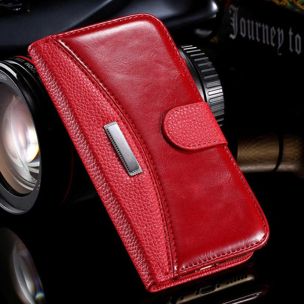 Business Leather Case Cover For iPhone 6 7 8 5S  Magnetic Stand Flip