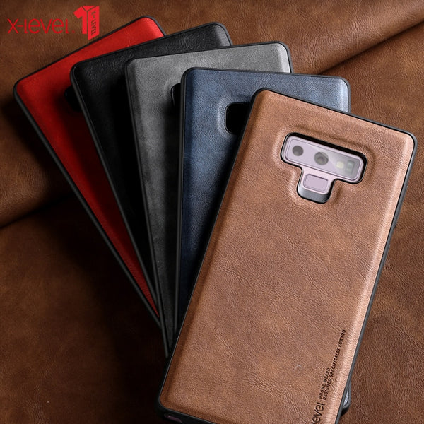 Luxury PU Leather Case For Samsung Note 9 Cases Soft Silicone Edge Shockproof