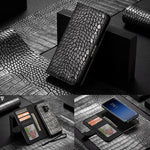 Genuine Leather with Crocodile Pattern Case for Samsung Galaxy Note 9 S9 Plus Note9
