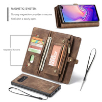 Luxury PU Leather Wallet case for Samsung Note 8 9 10 Plus case pc cover for Samsung Galaxy A20 A30 S10 Capa Phone case