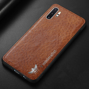 Luxury Vintage Leather Magnetic Car Hold Back Case Cover For Samsung Note 10