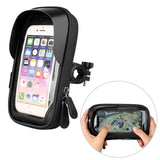 Waterproof Bicycle Phone Holder Stand Motorcycle Handlebar Mount Bag Cases Universal Bike Scooter Cell Phone Bracket