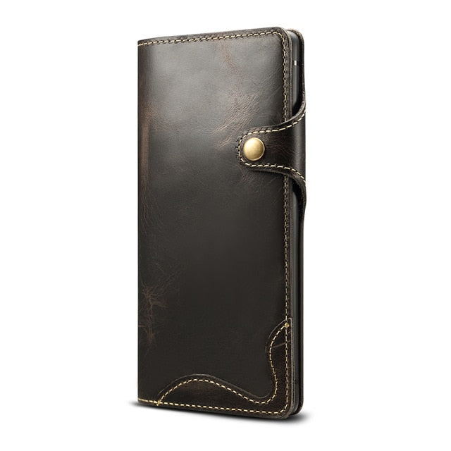 Genuine Leather Wallet Flip Case Cover For Samsung S20 Ultra Note 10 Plus 9