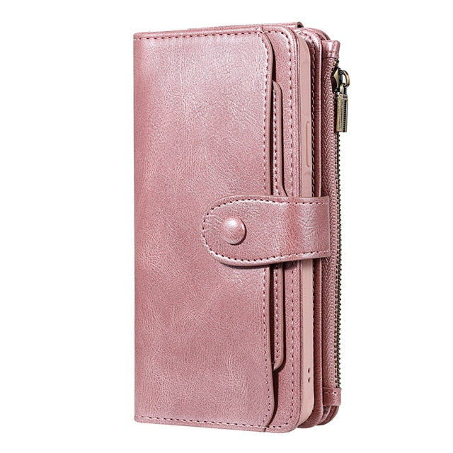 Luxury Leather Wallet Card Holder Detachable Flip Case For iPhone 11 Pro XS Max XR