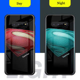Marvel Superman Batman case cover for Samsung Galaxy S Series Luminous Glass
