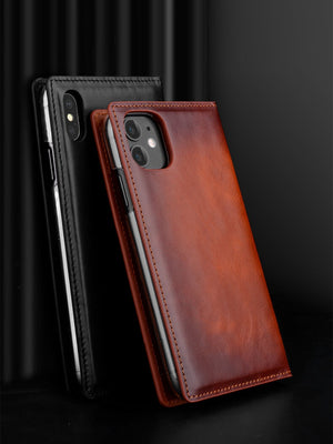 Genuine Leather Wallet Flip Case for iPhone 11/11 Pro Max XS XS MAX