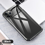 For iPhone 11 Pro Max Mirror Glass Shockproof Back Cover