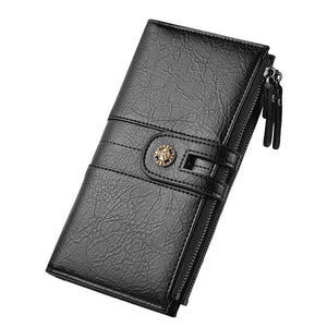 PU Leather Purse For Man Bifold Credit Card Photo Money Coin SIM Card Long Wallet