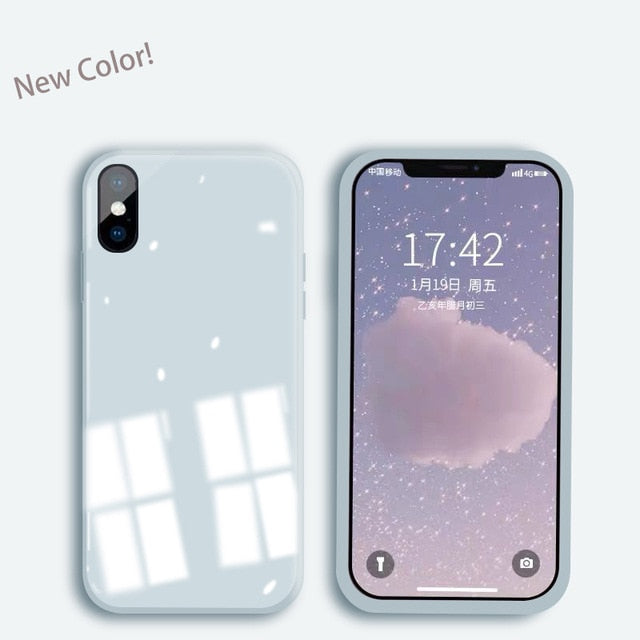 For iPhone 11 Pro X XS Max XR 7 8 6 SE 2020 Tempered Glass Soft Silicone Case
