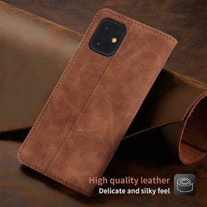 Retro Style Classic Magnetic Leather Flip Case For iPhone 11 Pro XS Max XR